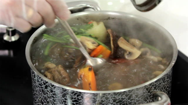 The soup is cooked video