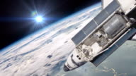 The Space Shuttle above the Earth video