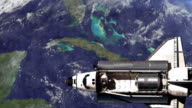 The Space Shuttle above the Earth. video
