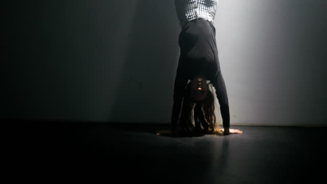 The Splits from a Hand Stand video