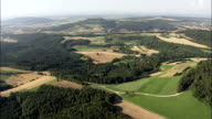 the Staffelberg And Church  - Aerial View - Bavaria,  Upper Franconia,  Landkreis Lichtenfels,  Germany video