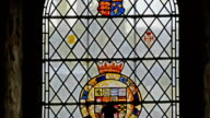 The stained glass window of the chapel inside the tower video