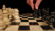 The start of a chess game, the opening move with a white pawn video