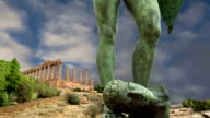 The statue in the archeological area of Agrigento, Sicily, Italy video