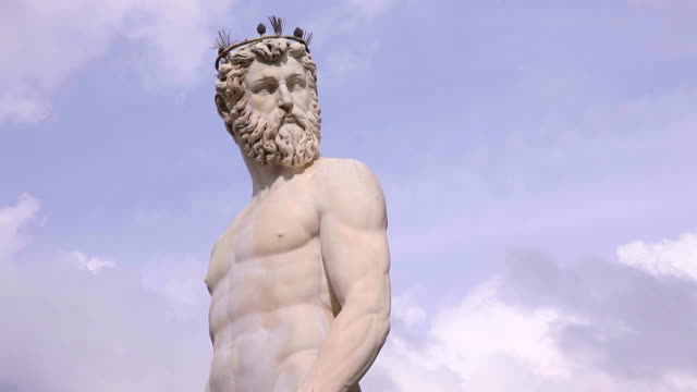The statue of Neptune in Florence, Italy video