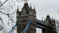 The stunning view of the Tower Bridge in London video