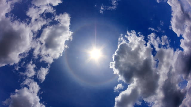 The Sun Halo On Beautiful Sky Background 4K Time Lapse video