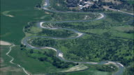 the Sun River Either Side Of Sun River Village  - Aerial View - Montana, Cascade County, United States video