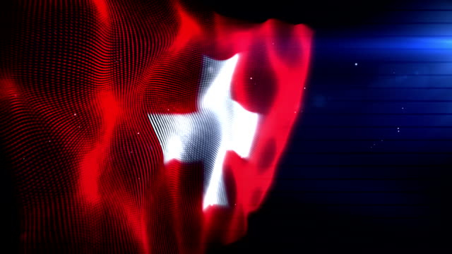 The Swiss Flag - Background Loop (Full HD) video