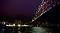 The Sydney Harbour Bridge at Night, Sydney Australia video