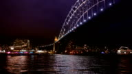 The Sydney Harbour Bridge at Night, Sydney Australia video