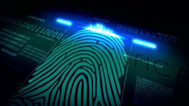 The system of fingerprint scanning - biometric security devices video