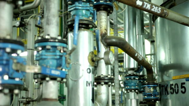 The System Pipe With Valves in Manufacturing video