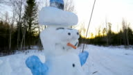 The tall snowman with bulky eyes video