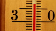 The temperature on the thermometer moves video