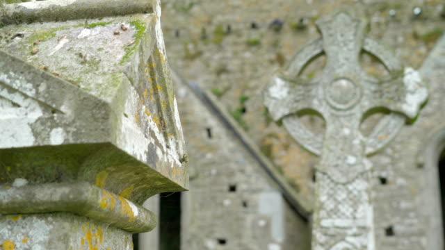 The tomsbstone celtic design in Ireland video