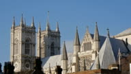The top view of the Westminster Abbey church in London video