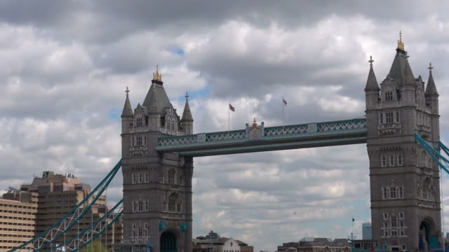 the Tower Bridge in London and the Tower of London in London England, UK video