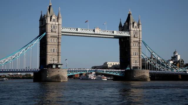 The Tower Bridge in London video