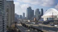 The Traffic downtown Toronto 4K video