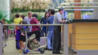 4K TIME LAPSE (3840x2160) : The Traveler Crowd at Airport (APPLE PRORES 422(HQ) format). video
