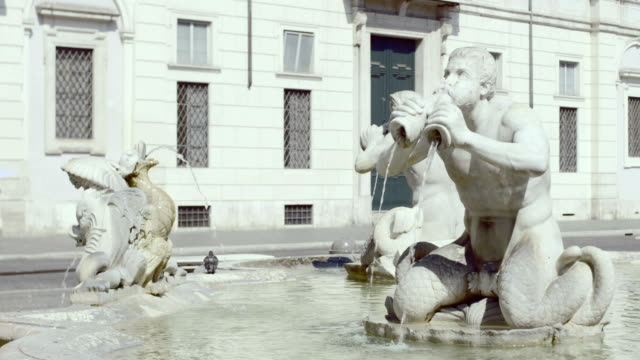 The Trevi Fountain and sculpture , Rome video