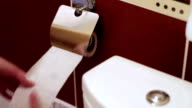 The unwinding of toilet paper video