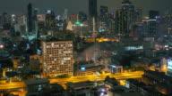 The urban night fire video