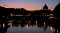 The Vatican during sunset video