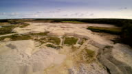 The very big limestone quarry area video