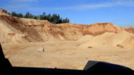The view from the driver's cabin offroadster that rides on the sand dunes video