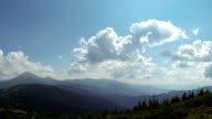 The view from the mountain Petros, timelapse (Ukrainian Carpathian mountains) video