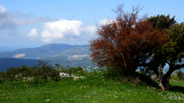 The view from the mountains in Montenegro from Fort Gorazde. Kot video