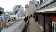 The view of the Tower bridge from the London of Tower video