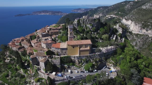 The village of Eze in Provence on the French Riviera, France video