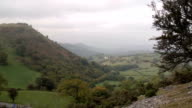 The Welsh Countryside With Ruin Castle video