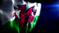 The Welsh Flag - Background Loop (Full HD) video