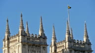 The Westminster Abbeys rooftop with a flag video