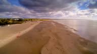 The white coastal sand of Parnu beach video