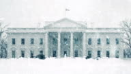 The White House In Snowstorm video