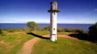 The white lighthouse in the cliff in Peipsi Estonia video