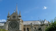 The whole outer view of the Notre Dame Cathedral video