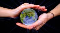 The world in hands (loop) video