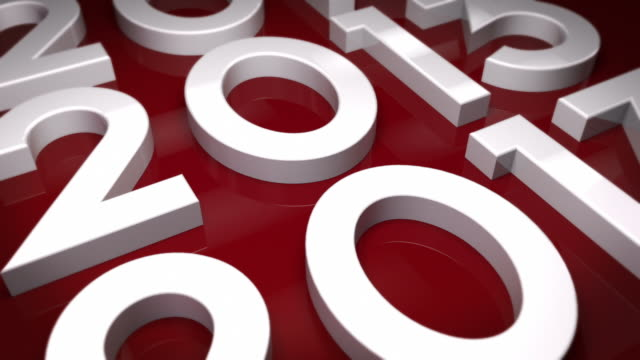 The Year 2013 Background Loop - Red (Full HD) video