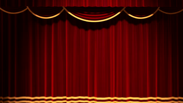Theater Curtain Open Chroma Key Background video