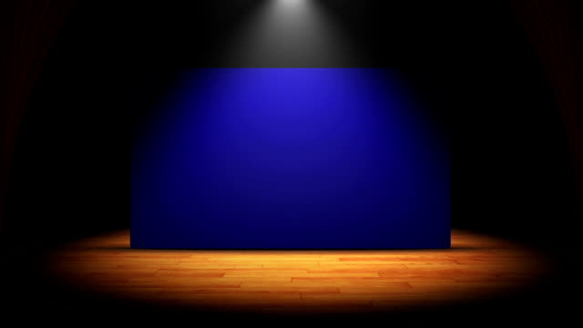 Theater, Curtain, Stage and Blue Screen video