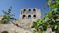 Theater Of Herodes Atticus over Acropolis in Athens video