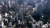 theatro Municipal  - Aerial View - São Paulo, São Paulo, Brazil video