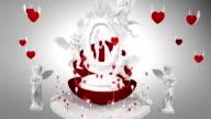 LOVE, VALENTINES DAY, WEDDING Theme. Motion graphics. video