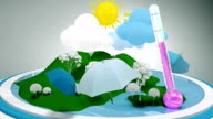 WEATHER Theme. Motion graphics. video